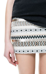 falda Zara aztec embroidered skirt XS | eBay