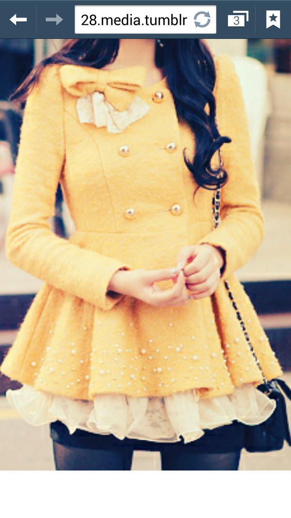 coat cute coat bows brendaastyles94