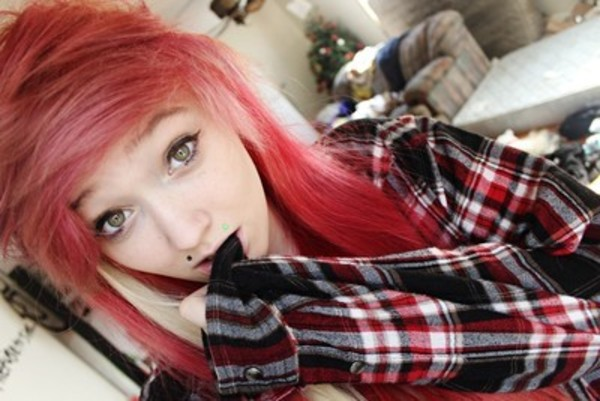 shirt flannel emo