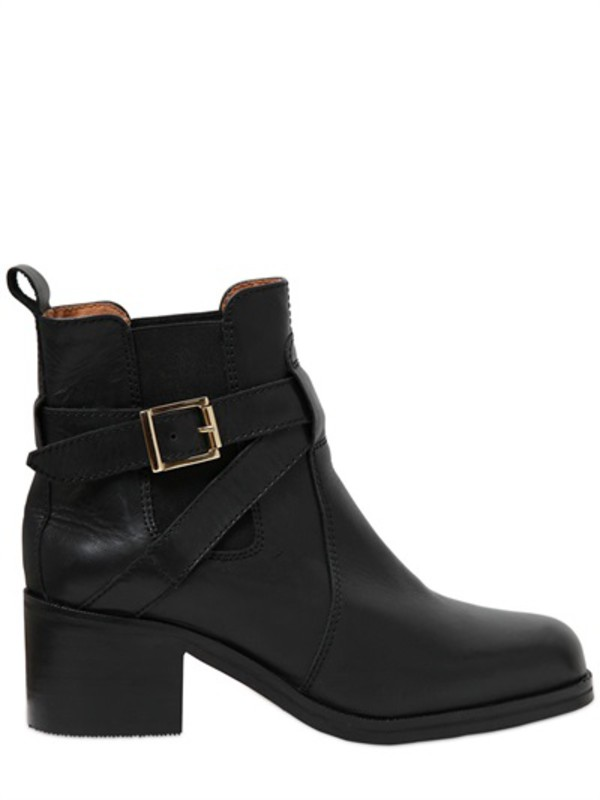 shoes stylish boots grunge leather shoes black worker boots