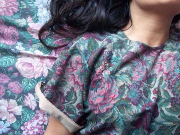 shirt flowers green floral
