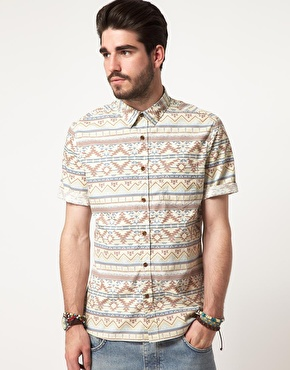 ASOS | ASOS Shirt With Aztec Print at ASOS