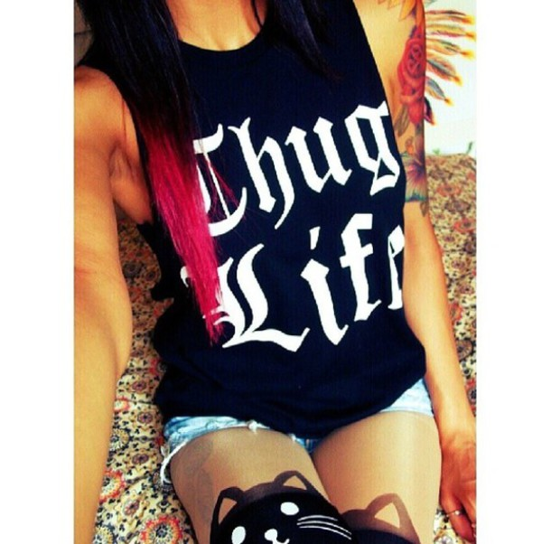 t-shirt thug life t-shirt