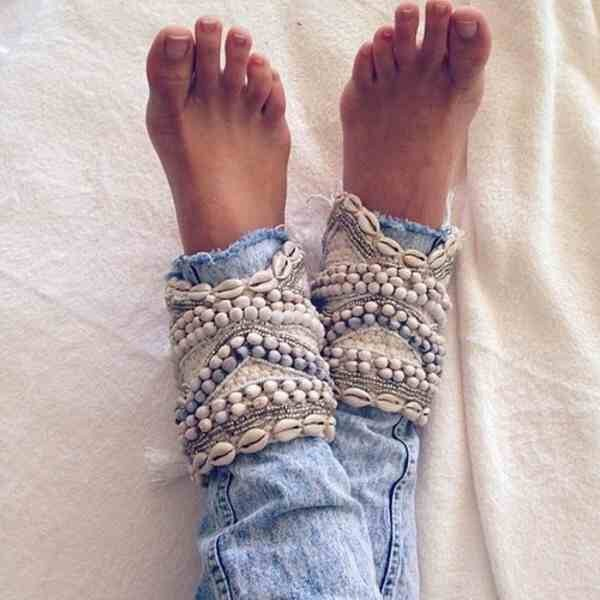 jeans pants beaded shell embellished denim embellished blue jeans