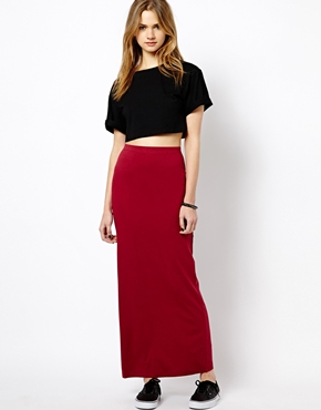 Vila | Vila Tube Maxi Skirt at ASOS