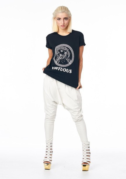 shirt virtuous t-shirt t-shirt short sleeve jesus god black shirt black t-shirt blue rubies