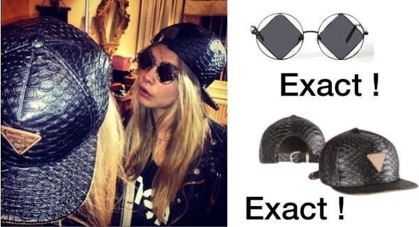hat cara delevingne cap sunglasses snapback black