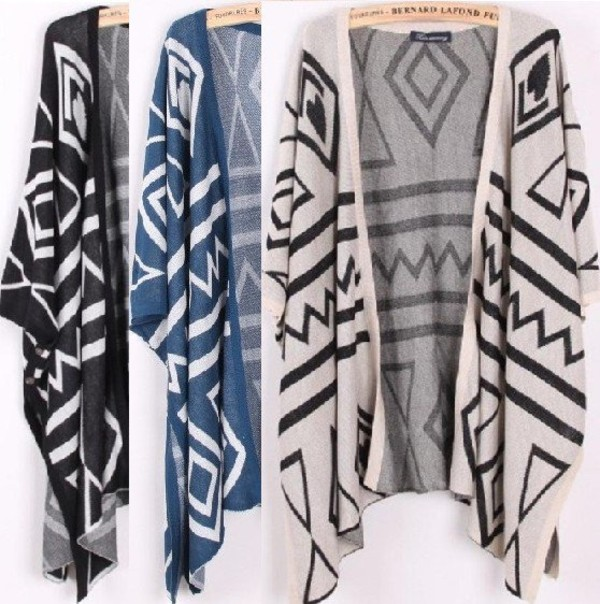 jacket kimono black white grey grey blue dark blue light blue cute boho hippie hipster indie hot pretty bohemian sweater