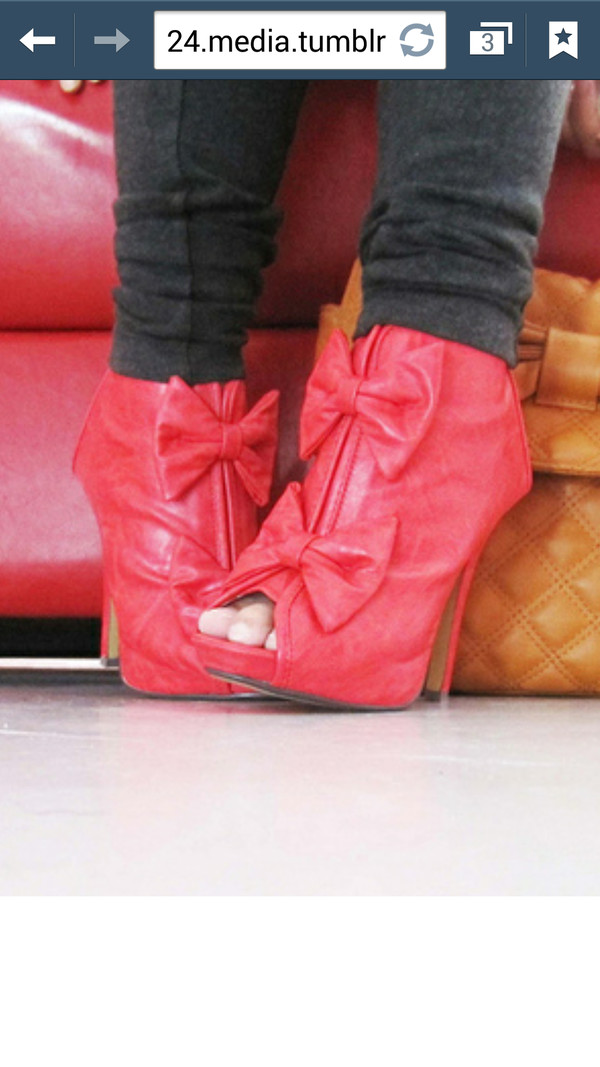 shoes pink bow high heels