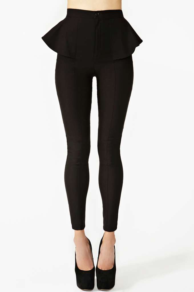Peplum Skinny Pant  in  Clothes Bottoms Pants at Nasty Gal