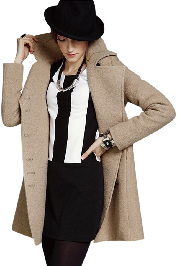 Plus-size Wool-blend Khaki Coat 68% Off   Tradesy