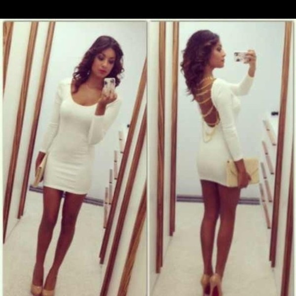 dress little white dress white dress long sleeve dress long sleeves