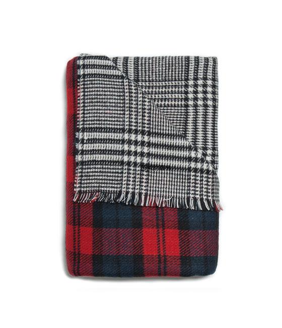 RED TARTAN TWO SIDE SOFT GREY REVERSIBLE PLAID SCARF WRAP BLOGGERS MUST HAVE | eBay