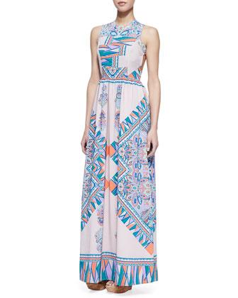 Lovers   Friends Kitty Cat Blush Scarf Patterned Maxi Dress (Stylist Pick!)