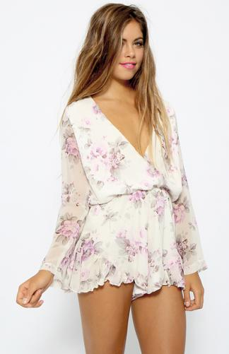 Quaint Playsuit - Purple | Back In Stock | Clothes | Peppermayo