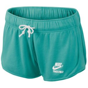 Nike Vintage Fleece Tempo Shorts - Women's - Casual - Clothing - Sport Turquoise