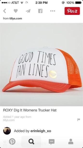 hat roxy beach surf lifestyle