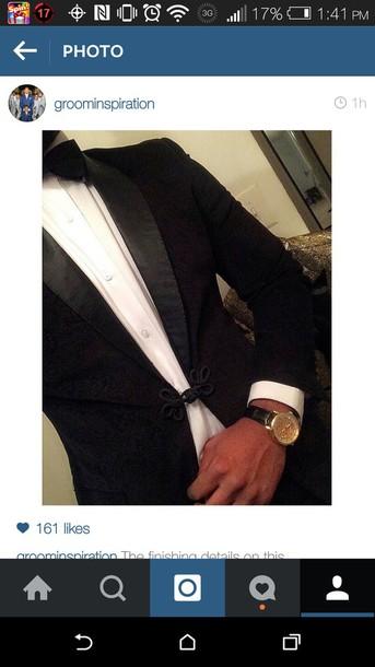 jacket black blazer with black clip