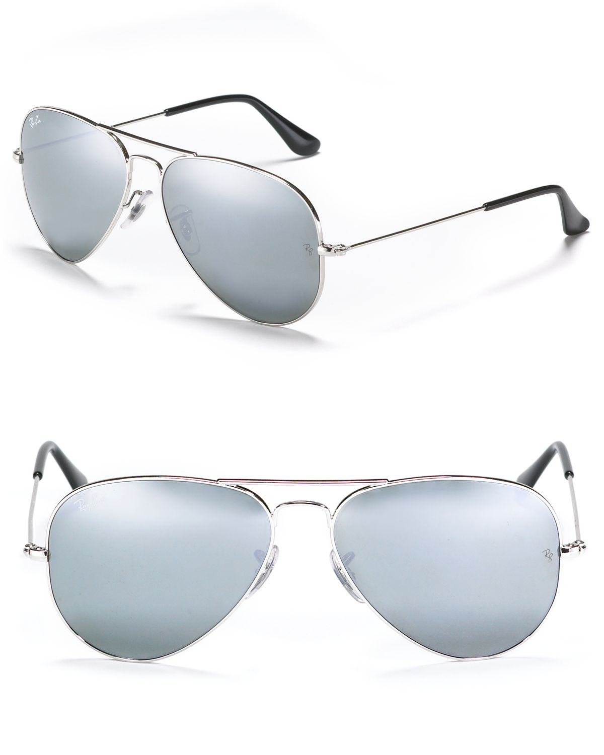 Ray-Ban Aviator Sunglasses with Mirrored Lenses | Bloomingdale's