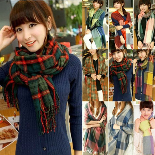 Free P&P High Quality Factory Price TARTAN PLAID CHECK Autumn Winter Neck WARM Soft Cashmere Long Scarf/Wrap/Shawl 1801-in Scarves from Apparel & Accessories on Aliexpress.com
