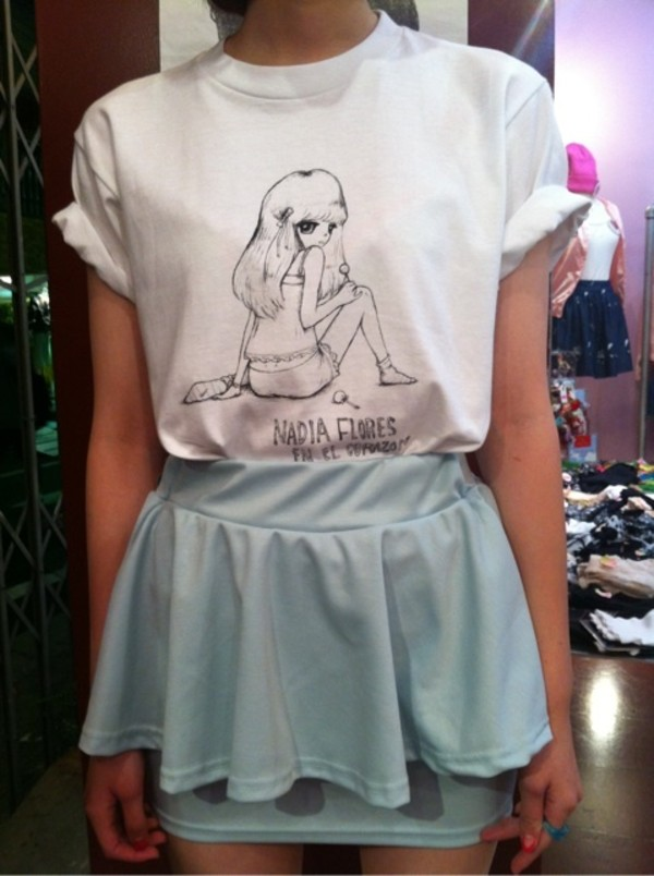 t-shirt girls shirt cartoon cute