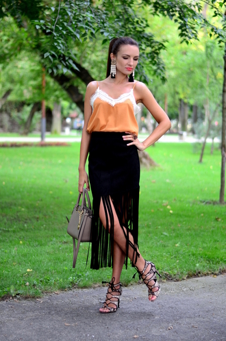 my silk fairytale blogger top skirt shoes bag jewels