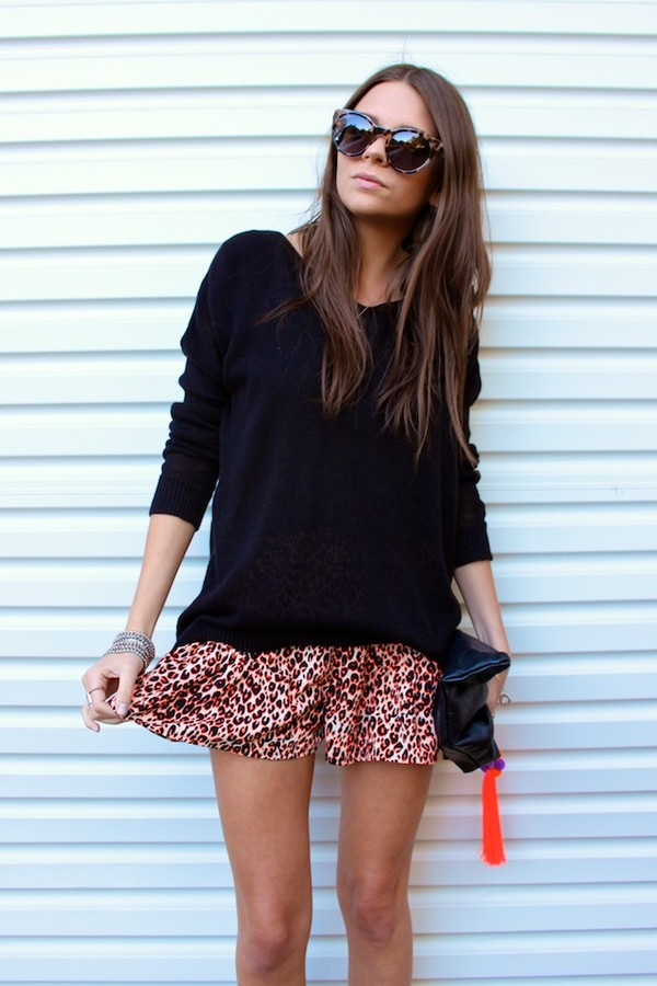 spin dizzy fall sweater shorts jewels bag