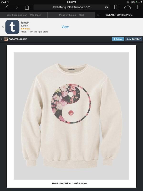 sweater crewneck yin yang