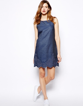 French Connection   French Connection Morgana Dress in Denim at ASOS