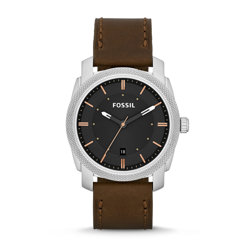 Fossil Machine Three-Hand Leather Watch - Brown FS4860 | FOSSIL®
