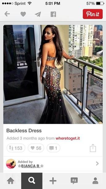 dress prom dress long dress black prom dress