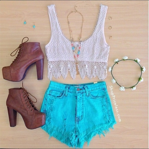 tank top shorts shoes shirt crop tops lace white indie blouse summer