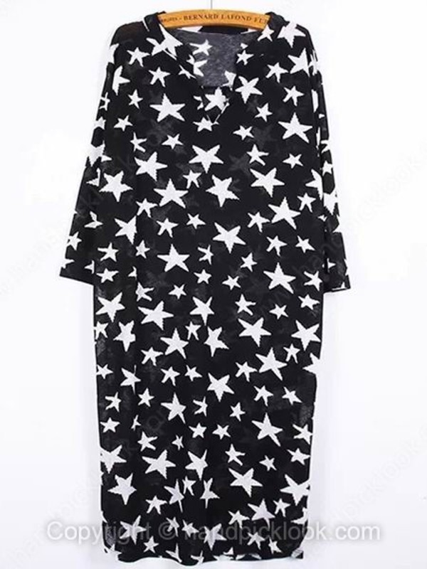 star print summer blouse boho dress long sleeve dress bohemian dress boho hippie