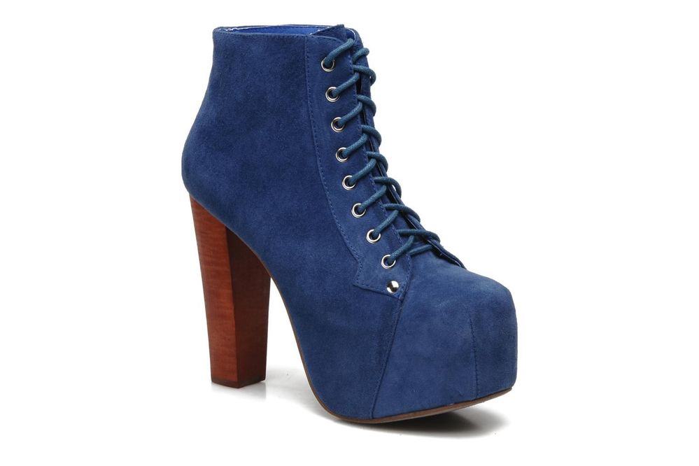 New Women's Jeffrey Campbell Lita Ankle Boots In Blue   eBay