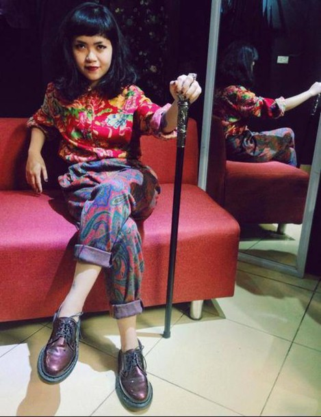 pants original hyppie excentric colorful crazy DrMartens