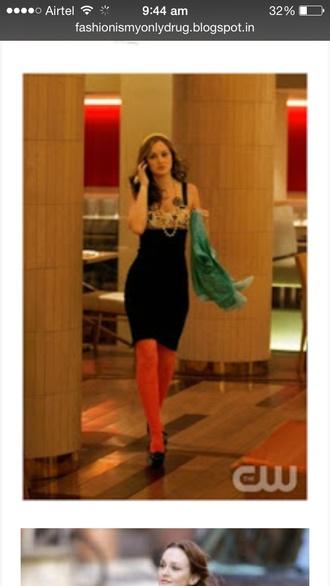 dress gossip girl blair tights
