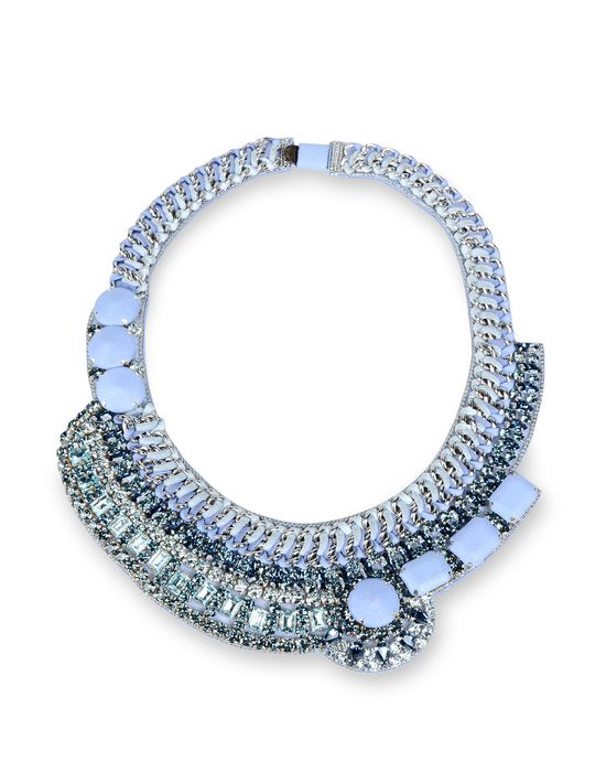 Women's Necklace Barbara Bui Leather and strass necklace - Official Online Store United States