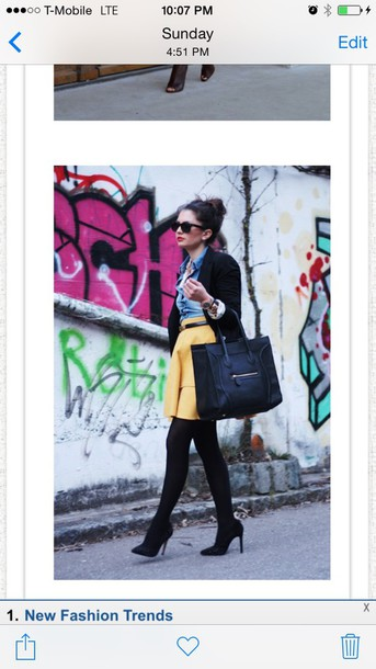 dress yellow skirt
