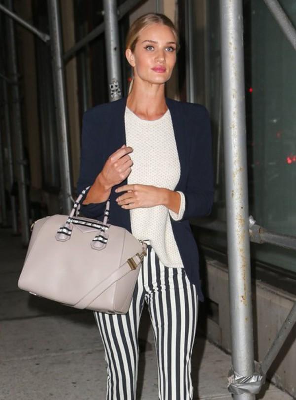 bag rosie huntington-whiteley sweater stripes