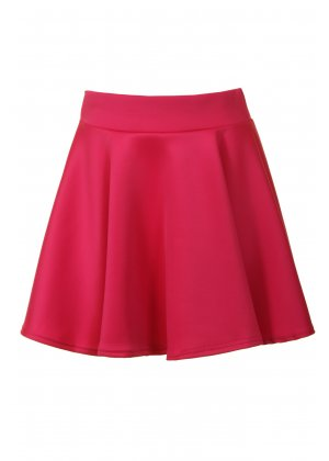 Glam Boutique Hot Pink Skater Skirt | Hot Pink Skater Skirt