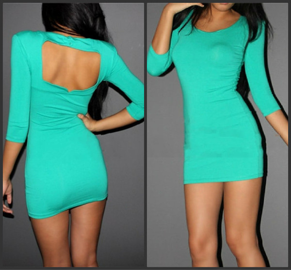dress blue green dress