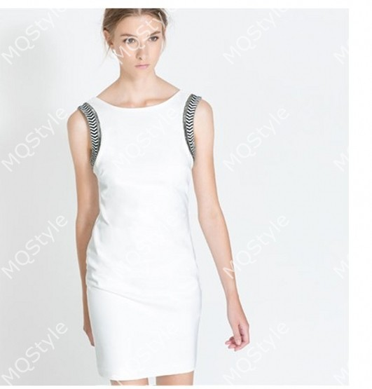 Womens Fashion Crew Neck Sleeveless Slim Bodycon Sexy Pencil Dress B3075   eBay