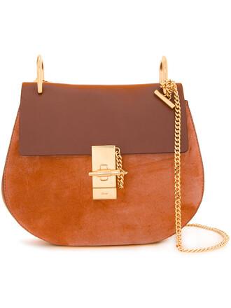 women bag shoulder bag gold leather yellow orange