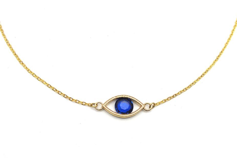 Blue Eye Necklace - Vintage Inspired Jewellery By Zara Taylor