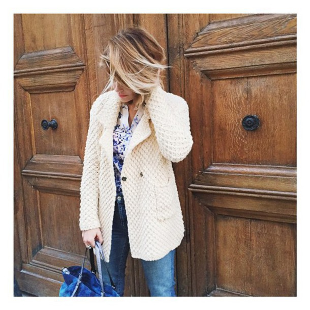 coat blouse jeans caroline receveur