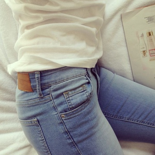 jeans pants pants bottoms tight jeans denim jeans blue high waisted pants high waisted tumblr white