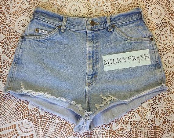 High Waisted Cutoff Shorts Size 12 Milky Fr3sh by ShopMilky