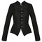 Womens ladies new black gothic steampunk military cotton tailcoat coat jacket | ebay