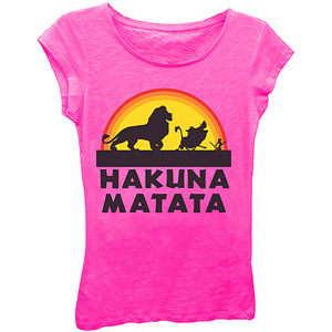 Girls' LION KING HAKUNA MATATA Graphic Tee: Girls : Walmart.com