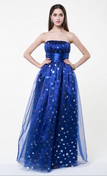dress strapless round sequins evening dress enchanting embellished floor length dress